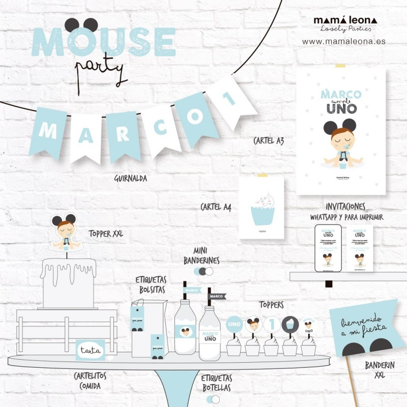MOUSE PARTY (varios colores) - Impreso
