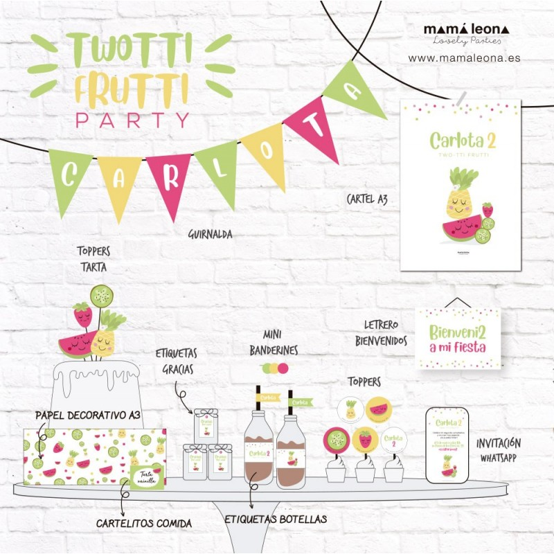 TUTTI FRUTTI PARTY - Exclusivo solo impreso